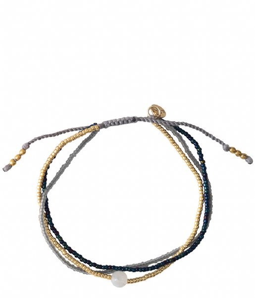 A Beautiful Story  Bloom Moonstone Gold Bracelet gold colored