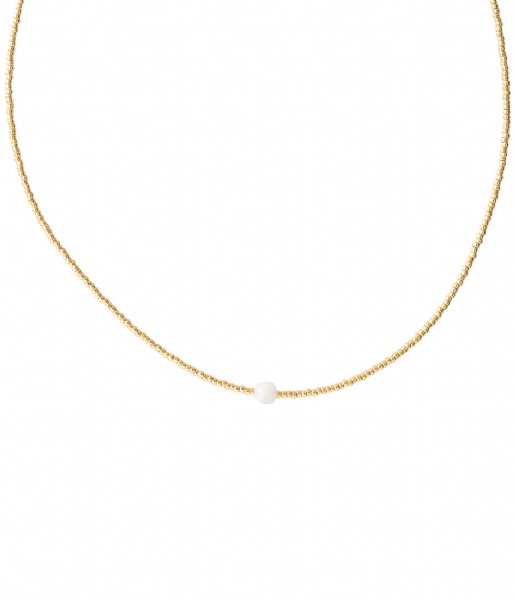 A Beautiful Story  Flora Moonstone Gold Necklace gold colored