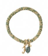 A Beautiful Story Jacky Multi Color Aventurine Gold plated green