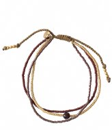 A Beautiful Story Bloom Garnet Gold Bracelet gold colored