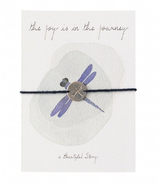 A Beautiful Story  Jewelry Postcard Dragonfly Silver colored