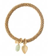 A Beautiful Story Jacky Aventurine Leaf Gold Plated Bracelet gold plated (BL23256)