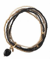 A Beautiful Story Nirmala Black Onyx Gold Bracelet goud (BL22453)
