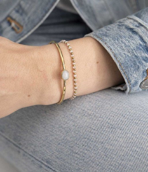 A Beautiful Story  Beautiful Moonstone Gold Bracelet goud (BL24268)