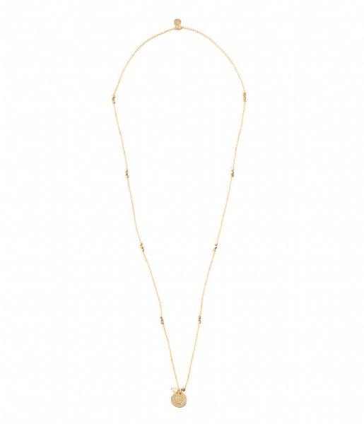 A Beautiful Story  Truly Citrine Shell Gold Necklace goud (BL25108)