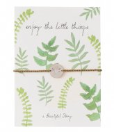 A Beautiful Story Jewelry Postcard Leaves silver colored (JP00038)