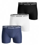 Björn Borg Shorts Sammy Solid Essential 3 Pack Blue Depths (70101)