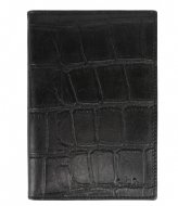 LouLou Essentiels Passport Holder Vintage Croco black (001)