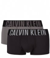 Calvin Klein Low Rise Trunk 2Pk Black/ Grey Sky (9C5)