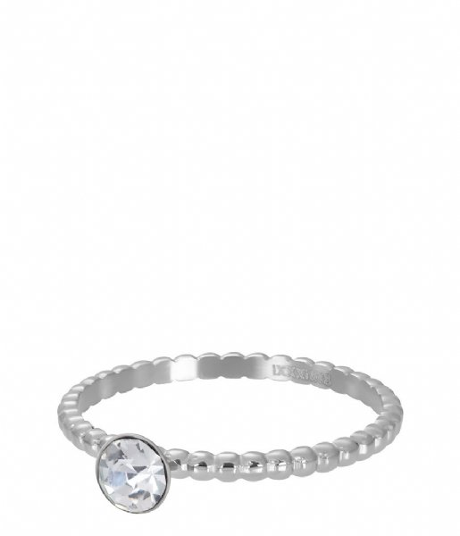 iXXXi  Ball With Crystal Stone Silver colored (03)
