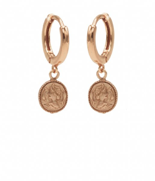Karma  Hinge Hoops Coin Zilver Roseplated (M1968HIN)