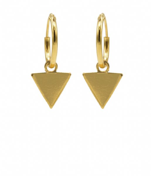 Karma  Hoops Symbols Triangle Zilver Goldplated (M1909)