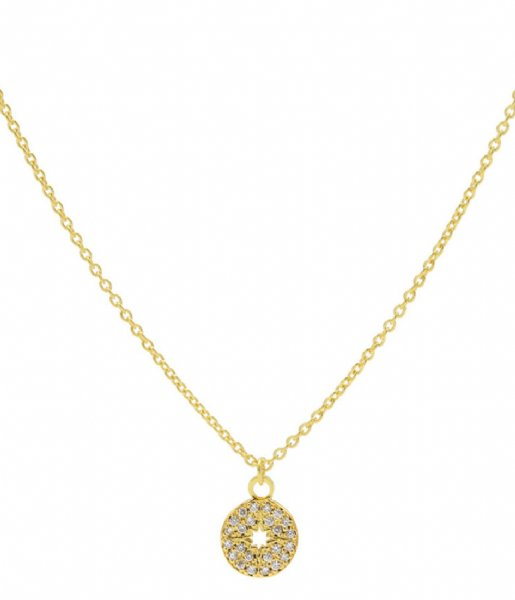 Karma  Karma Necklace Diamond Disc Gold colored Gold colored silver colored (T226)