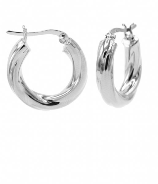 Karma  Plain Hoops Twisted Hoops Loose 20MM Zilver (M2539S)