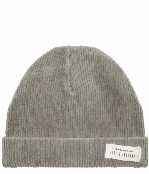 Little Indians  Beanie Corduroy Green (BE12-CG)