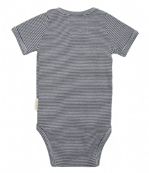 Little Indians  Onesie Shortsleeve Small Stripe Rib Small Stripe (ONSH11-SS)