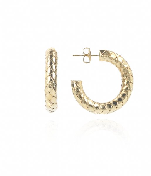 LOTT Gioielli  Classic Earring creole round S Gold plated
