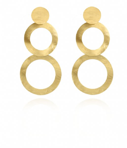 LOTT Gioielli  Classic Earring Double round open Gold plated