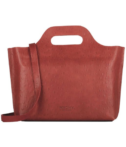MYOMY Handbag MYOMY MY CARRY BAG Handbag Ostrich Red
