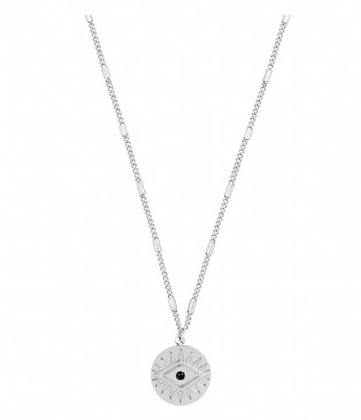 My Jewellery  Pendant Necklace Coin Eye silver colored (1500)