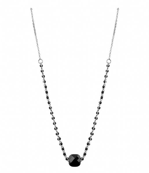 My Jewellery  Enamel Necklace glass - Black zilverkleurig (1500)