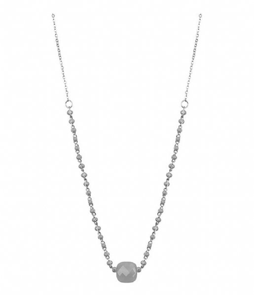 My Jewellery  Enamel Necklace Glass - Grey silver colored (1500)