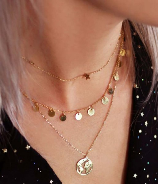 My Jewellery  Long Coin Necklace gold colored (1200)