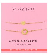 My Jewellery Mother & Daughter Bracelet goudkleurig (1200)