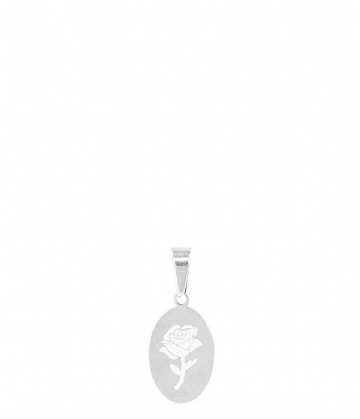 My Jewellery  Custom Charm Oval Rose silver colored (1500)