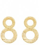 My Jewellery Double Circle Statement Earring goudkleurig (1200)