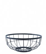 Present Time Fruit basket Open Grid metal black (PT3018BK)