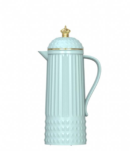 Present Time  Thermos bottle Crown glossy 1000ml light blue (PT3561BL)