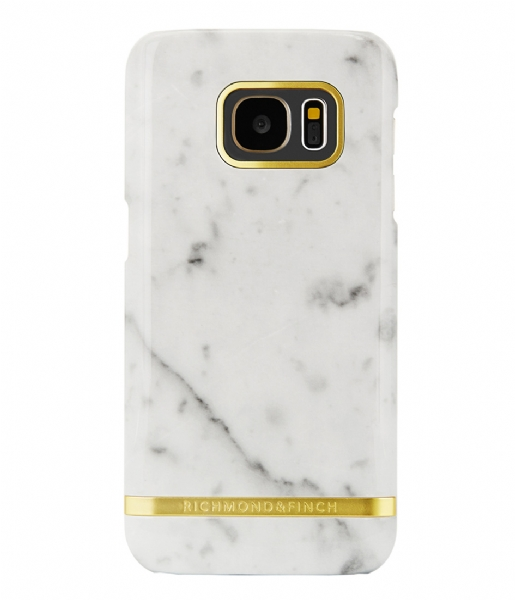 Richmond & Finch  Samsung Galaxy S7 Edge Cover Marble Glossy white marble (11)