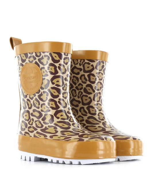 Shoesme  Rubber Laars met Fleece Sock Leopardo