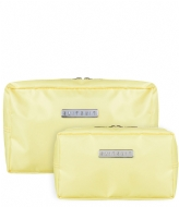 SUITSUIT Fabulous Fifties Duo Set Toiletry Bag + Make-up Bag mango cream (26723)