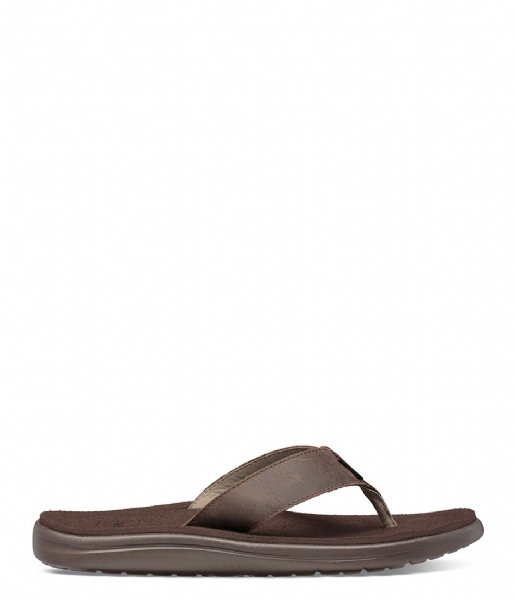 Teva  Voya Flip Leather chocolate brown