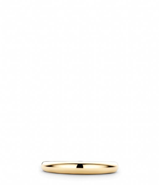 TI SENTO - Milano  925 Sterling silver Ring 12104 zilver geelgoud verguld (12104SY)