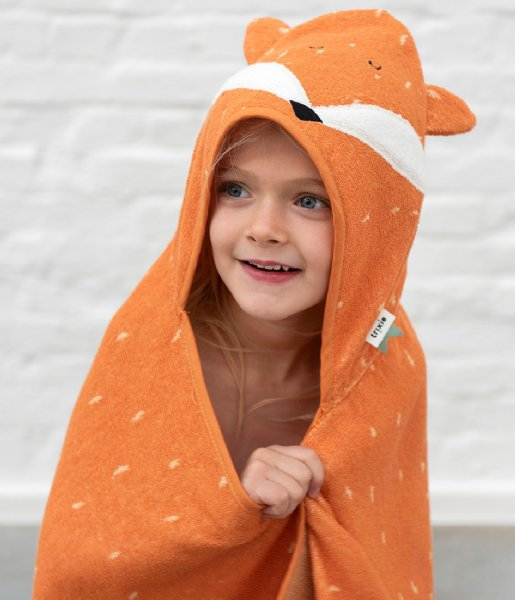 Trixie  Hooded towel , 75x75cm - Mr. Fox Orange