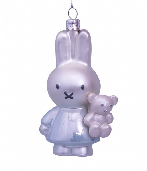 Vondels  Ornament Glass Nijntje Miffy Baby Blue With Bear 11 cm Baby Blue